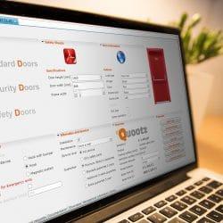 CPQ software op een laptop